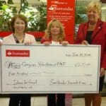 Santander Bank Donation to Caregiver Volunteers