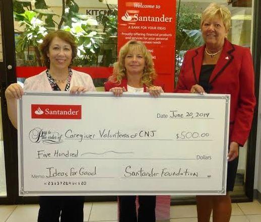 CVCJ Santander Donation Photo