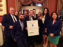 Leo DiGioia and TD Bank Team members honorees 11 10 15