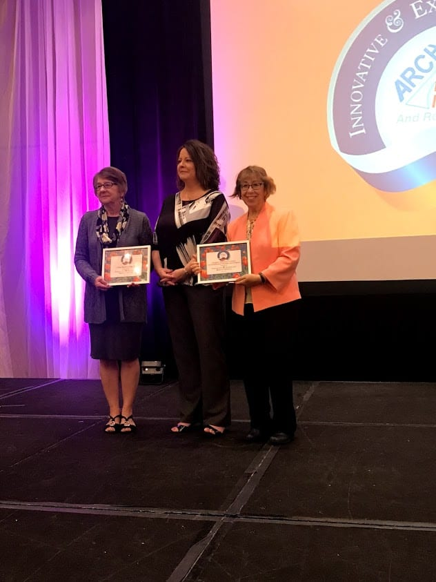 Photo: Lynnette Whiteman receiving ARCH's Innovative and Exemplary Respite Services Award at the May 2019 National Respite Conference