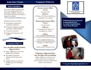 Caregiver Volunteers of Central Jersey brochure