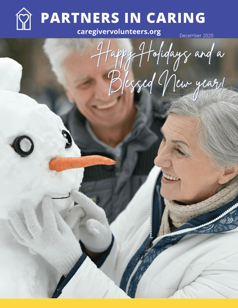 Caregiver Volunteers of Central Jersey December Partners in Caring Newsletter